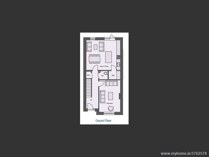 New 3 Bedroom Semi-Detached House Type B1, Ashfield, Ridgewood, Swords, County Dublin