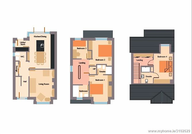 Landen Park Oldtown Demesne, Naas, Co. Kildare - 4 bed s/d, c.1,530 sq.ft.