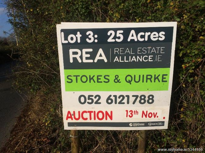 Killowen, C.65 Acres (in 3 Lots), Portlaw, Waterford