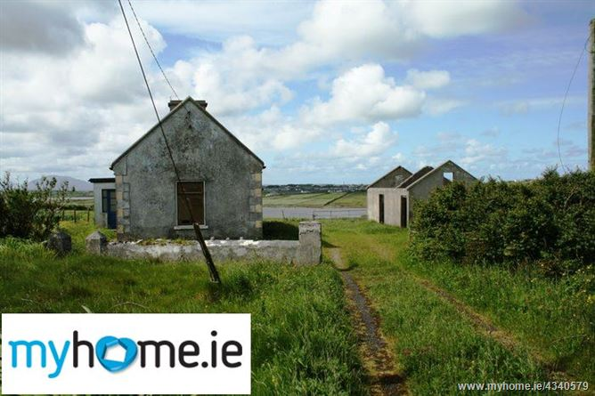 Main image for Two bed house placed on 4.4 Acres of land at Morahan, Belmullet, Co. Mayo